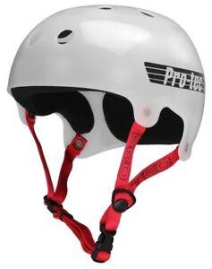 Protec Bucky Skate Helmet Trans White Size Large Skate Scooter Pro-Tec