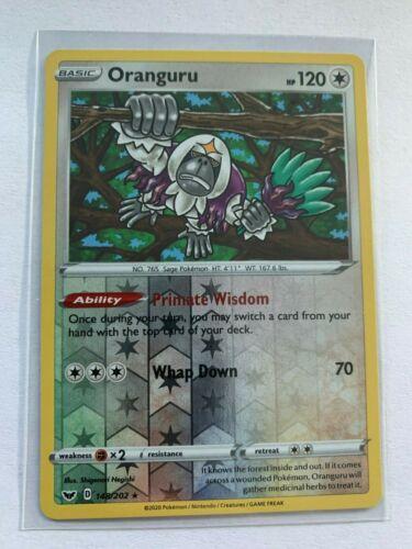 Oranguru Pokemon Sword and Shield Reverse Holo 148//202 NM//M Pack Fresh