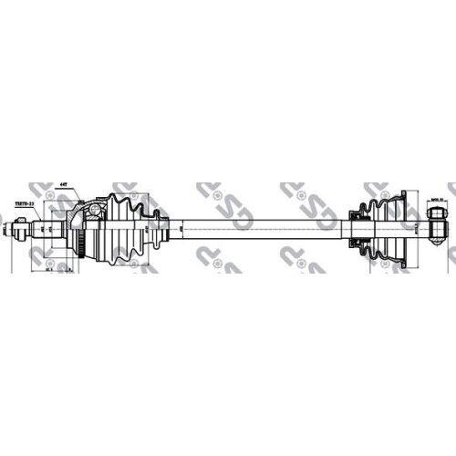 GSP ANTRIEBSWELLE GELENKWELLE VORNE LINKS RENAULT 2740752