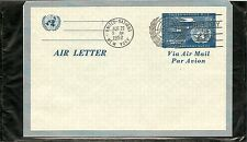 United Nations / New York UC1 Letter Sheet FDC. Uncacheted.