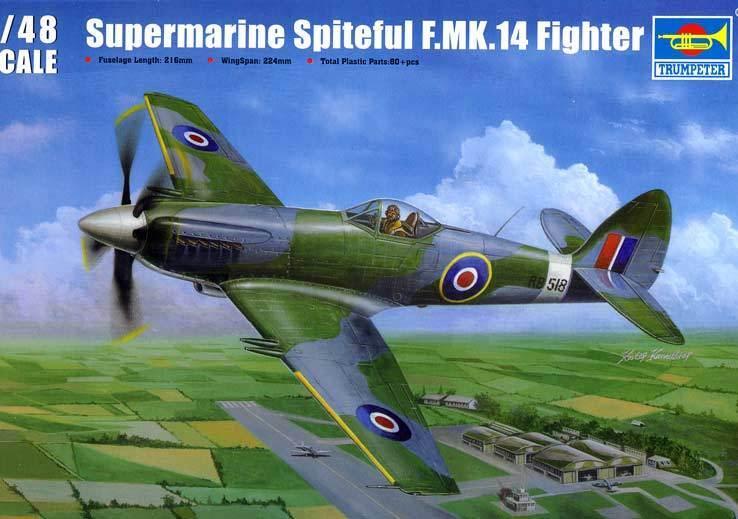 Trumpeter Supermarine Spiteful para mk.14 FIGHTER Modelo Equipo de construcción