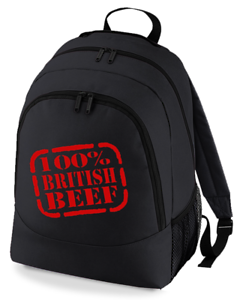100/% British Beef-Funny Unisexe Unisexe Alice Sac à Dos Bag from Fat Cuckoo