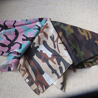 Ordinato Multi Colore Camouflage Army (vari) Stampa Bandana / Bandit / Sciarpa Nuovo-