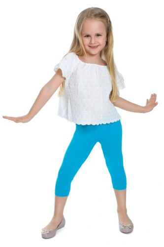 Children Cropped Leggings Comfy Colorful Cotton Capri Kids 3//4 Pants Age 2-13