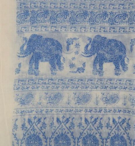 Damenschal Elefanten blau ivory by Ella Jonte Schal Viskose Elefant neue Saison