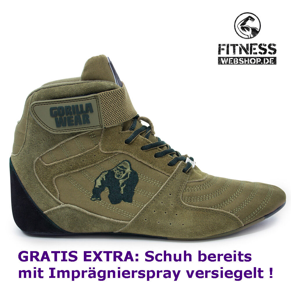 Gorilla Wear Perry High Tops pro Army verde-Fitness musculación zapatos de deporte