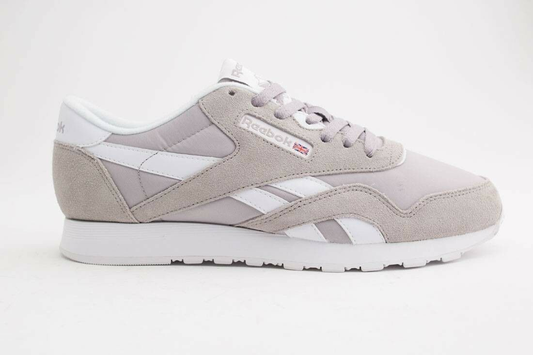 2df281dc4e0  59.99 Reebok Men Classic Nylon Nylon Nylon gray whispher grey white BD4903  e9a706