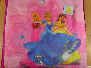 Disney Princess Sleeping Bag Purple Pink Pillow Pocket