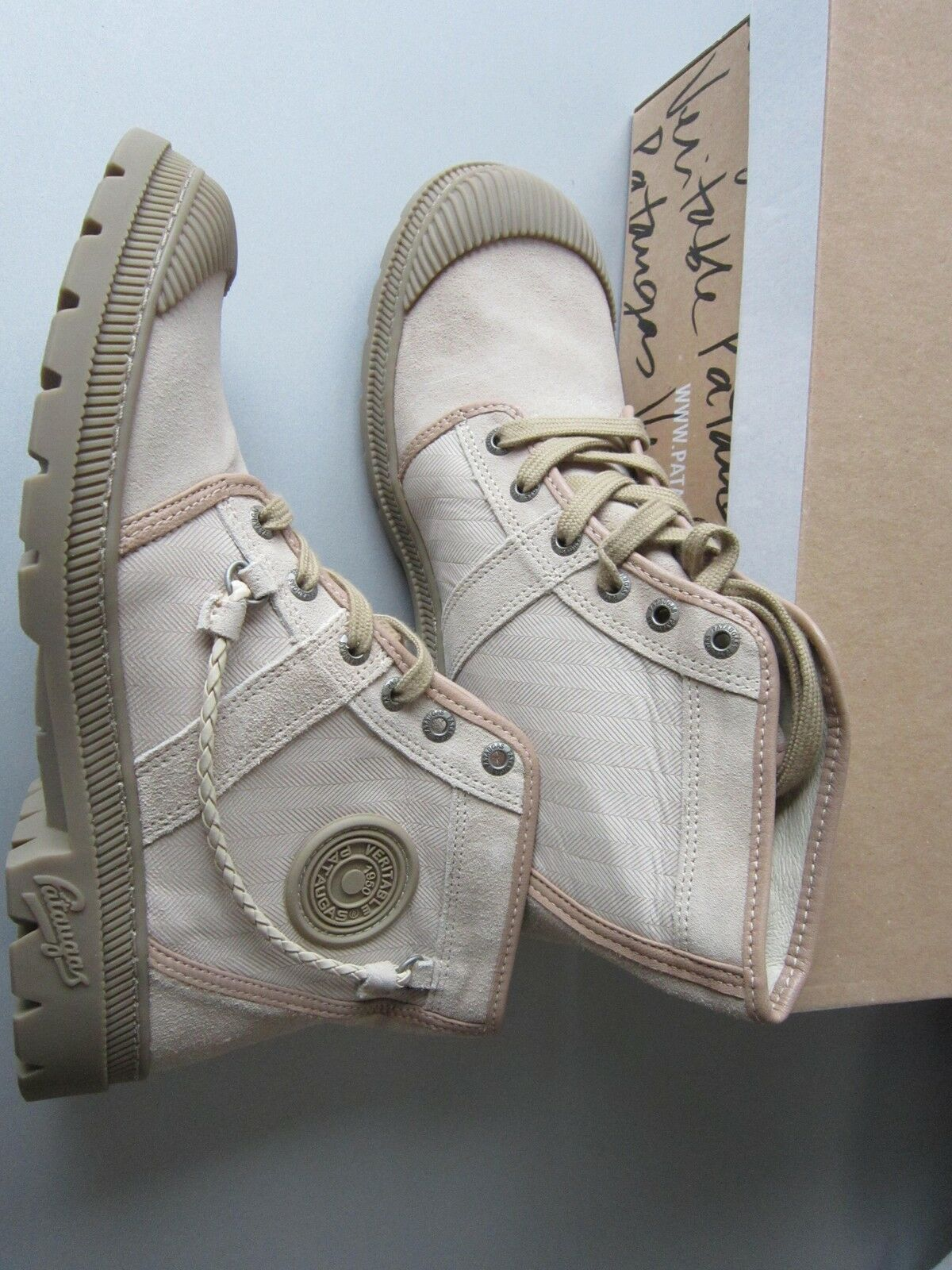 PATAUGAS fabric, suede & rubber schuhe NEU in BOX never used french 39