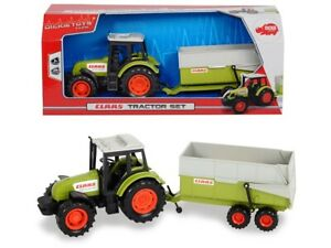 Dickie-203736004-Far-Claas-Tractor-and-Trailer-New