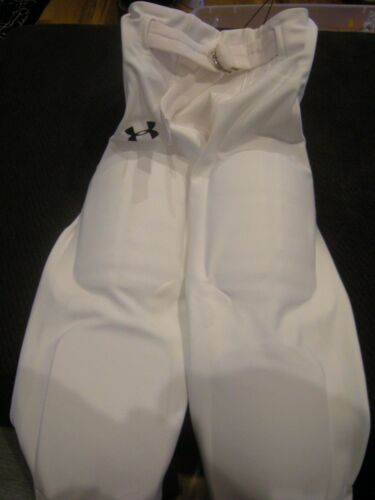 New Boys White Under Armour Heat Gear Football Pants Size M