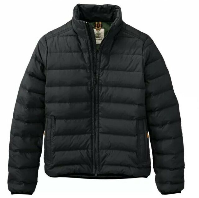 Timberland MEN'S BEAR HEAD PACKABLE DOWN BLACK JACKET STYLE A1ASH. SZ:M