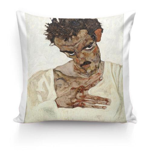 Peinture par Egon SCHIELE Haute Qualité Soie pillowcover CASE canapé décor coussin