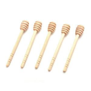 Moda-Madera-Honey-Dipper-Wooden-Stick-Spoon-Dip-Drizzler-Server-145mm-largo-aoVP