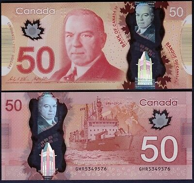 Wilkins /& Poloz UNC Banknote Canada 50 Dollars p-109a 2012 Sign