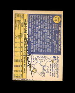 Larry Burchart Hand Signed 1970 Topps Cleveland Indians Autograph