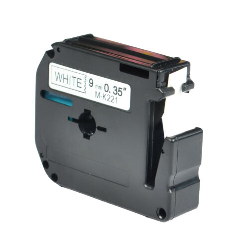 MK221 Black on White Label Tape compatible for Brother P-touch M-K221 PT65 PT110
