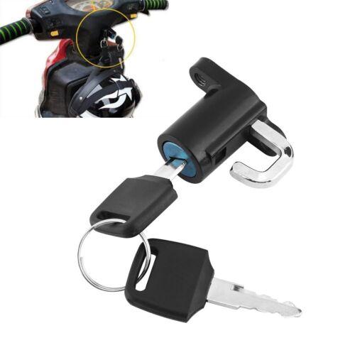 Universal Motorcycle Motorbike Scooter Bike Helmet Lock Hanger Hook 2 Keys Set