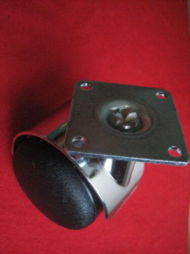 50mm doux sol rôles Meubles rôle Design rôle Chrome plaque 42x42mm