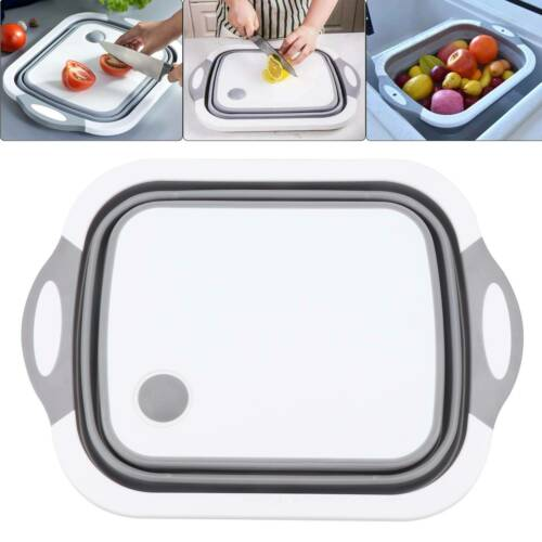4 in 1 Folding Chopping Cutting Board Multifunctional Tool Sink Drain Basket UK