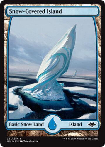 English-Snow-Covered Island-Modern Horizons MTG-1x-NM-Mint