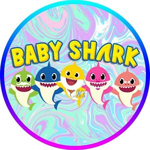 Baby Shark 7 Inch Edible Image Cake & Cupcake Toppers ...