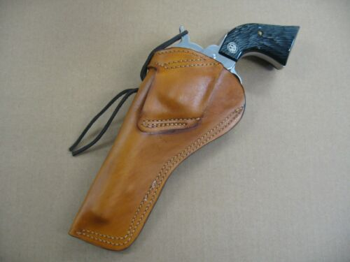 """Colt SAA 5 1//2/"""" Single Action Revolver Leather Cross Draw Holster TAN RH"""