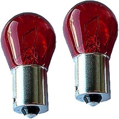 2 Stück Rote Glühbirnen Standlicht rot mit Zulassung Lampen 12V 5W BAW15S NEU