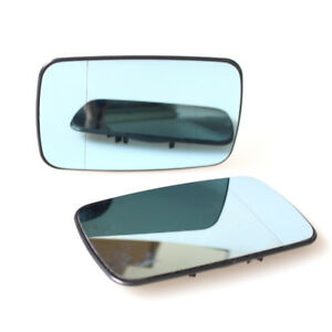 Details about ReView Split Mirror Heated Glass Blue Pair for BMW E46 99-05  Sedan Plate