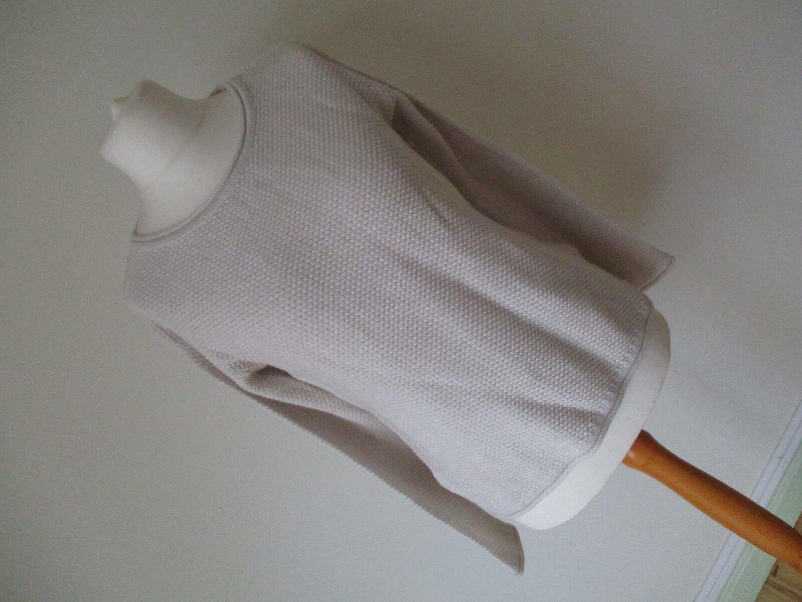 BNWT CREW CLOTHING Ladies 100% Cotton Cream Natural Jumper  8 - 10 UK   RRP