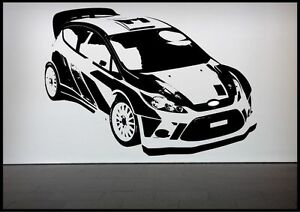 Image is loading Rally-Car-Racing-Car-Wall-Sticker-Bedroom-Decal- : race car wall art - www.pureclipart.com