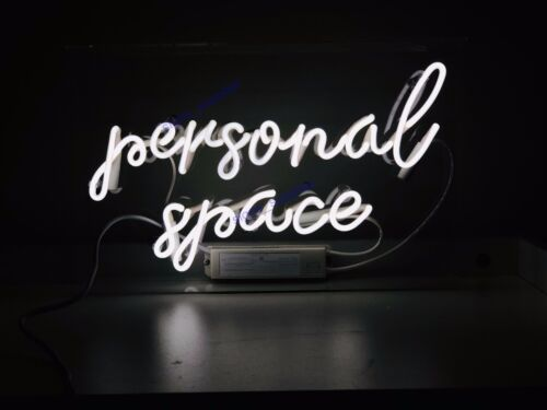 """New Personal Space Neon Sign Acrylic Gift Light Lamp Bar Room 15/""""x7/"""""""