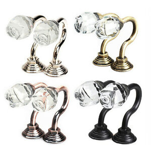 crystal ball vorhang haken quaste wand binden zur ck kleiderb gel halter vorhang ebay. Black Bedroom Furniture Sets. Home Design Ideas