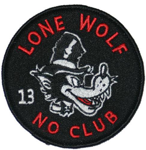 Authentic LUCKY 13 Lone Wolf Embroidered Patch NEW
