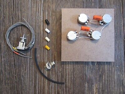 50s Les Paul Pre-Wired Harness Bourns PDB241 Short Pot Switchcraft Short Toggle