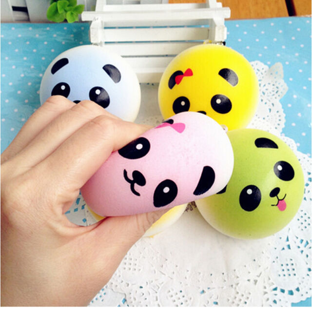 Panda Squishy Charms Soft Buns Cell Phone Key Chain Bread Straps SP