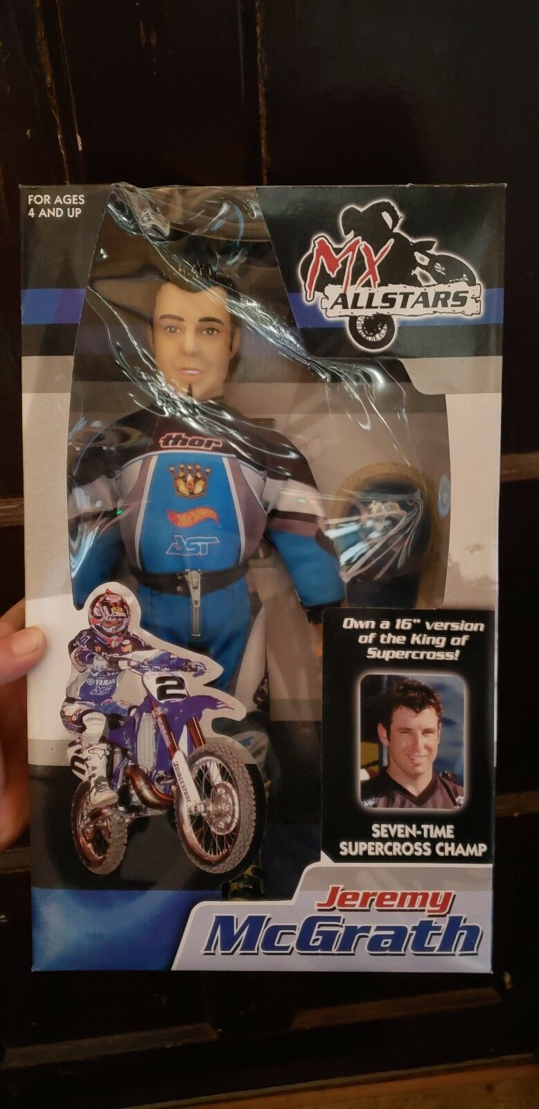 NEW MX ALLSTARS COLLECTABLE JEREMY MCGRATH THOR YAMAHA 16 TOY ACTION FIGURE DOLL