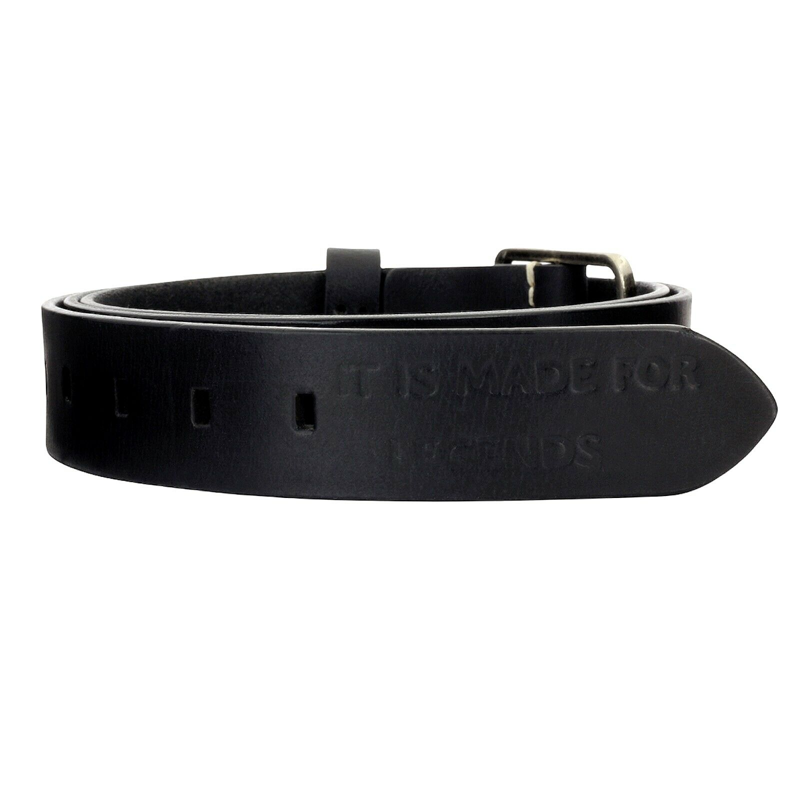 Leather Belt Black Mens Ladies 35mm Wide Full Leather Belt Real Leather Manza
