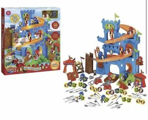 Childrens-Toy-Majestic-Knights-Seige-Castle-100-Piece-Playset-New-Gift-Idea