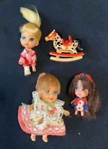 Vintage-1960-039-s-Mattel-Liddle-Kiddle-Calamity-Jiddle-Liz-Locket-Liddle-Muffet
