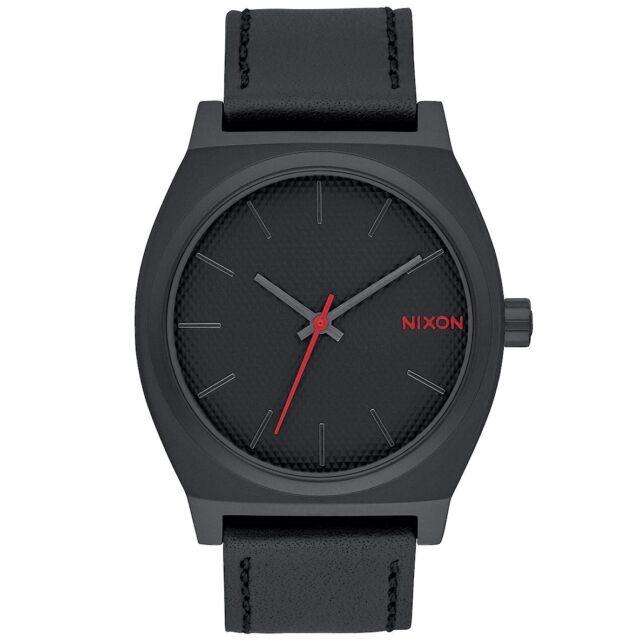 Nixon A0452298 Time Teller All Black Stamped Mens Analog Watch