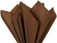 Chocolate Brown Tissue Paper For Gift Wrapping 20x26 Sheets Eco-friendly