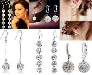 Classical-Women-Crystal-Rhinestone-Dangle-Drop-Hook-Earrings-Ear-Stud-1-Pair-HS