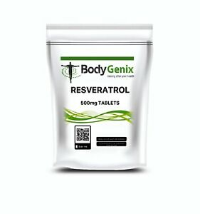 Resveratrol 500mg Tabs Bodygenix Uk Powerful Memory Antioxidant
