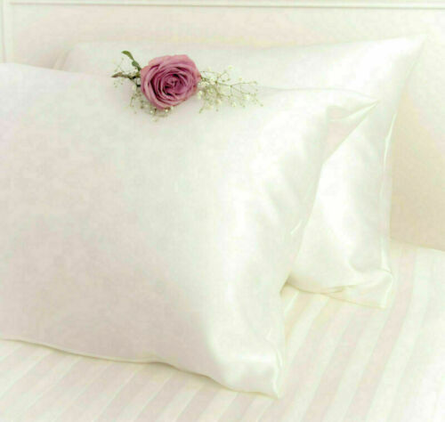 Soft Pure Silk Satin Pillowcase Pillow Case Covers Queen Standard Hair Beauty UK
