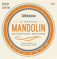 """D'Addario EJ74 Phosphor Bronze Mandolin Strings, Medium, 11-40"""