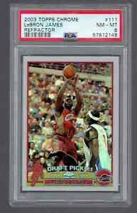 2003-04 Topps Chrome LeBron James Refractor Rookie RC Card PSA 8 NM-MT