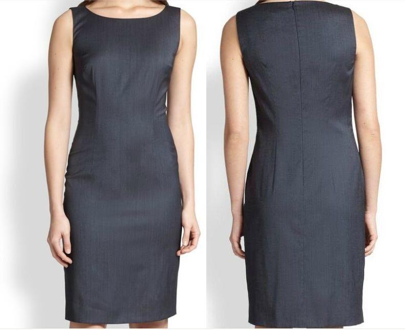 NWT Hugo Boss Stretch Virgin Wool Sheath Dress Size 10
