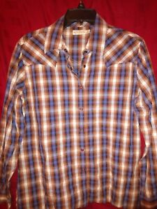 Rockies-Womens-Long-Sleeve-Button-Down-Western-Shirt-size-XL