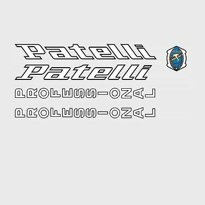 Stickers n.4 Patelli Professional Bicycle Decals Transfers